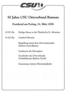 50 Jahre CSU Ortsverband Ramsau