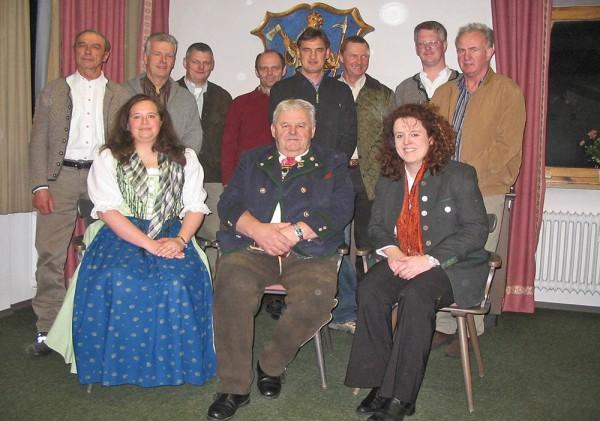 CSU-OV -Ramsau: Vorstandschaft im Jahr 2006