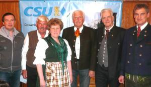 Ehrungen: (v.l.) Manfred Weber -  Ewald Palzer - Elke Brandt - Josef Maltan - Richard Graßl