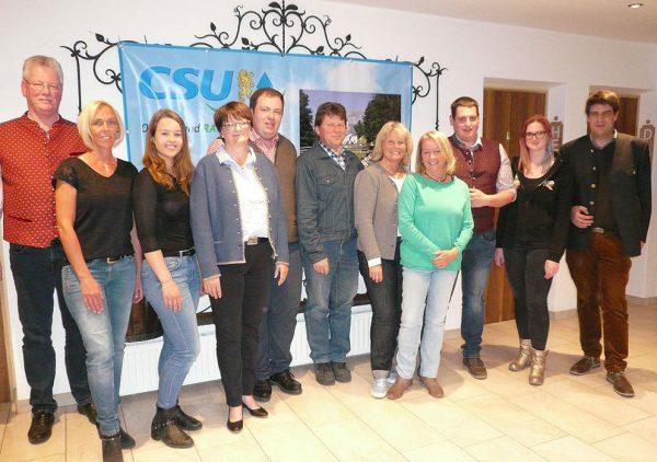CSU-Jahreshauptversammlung-2019: Die neu gewählte Vorstandschaft