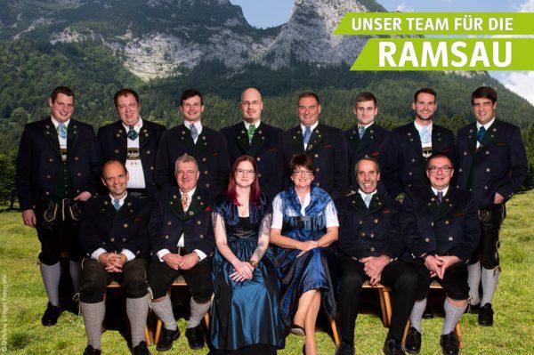 Unser Team für die Ramsau bie den Kommunalwahlen 2020